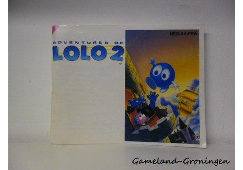 Adventures of Lolo 2 (Handleiding, FRA)