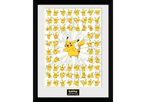 Pokémon - Pikachu Pose Framed Poster 45 x 34 cm
