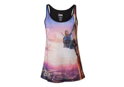 Zelda Breath of the Wild - All Over Link Climbing Dames Tanktop
