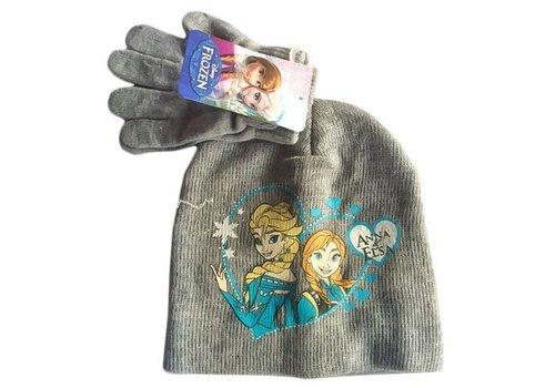 Disney's Frozen - Kinder Muts & Handschoenen Grijs 54 cm