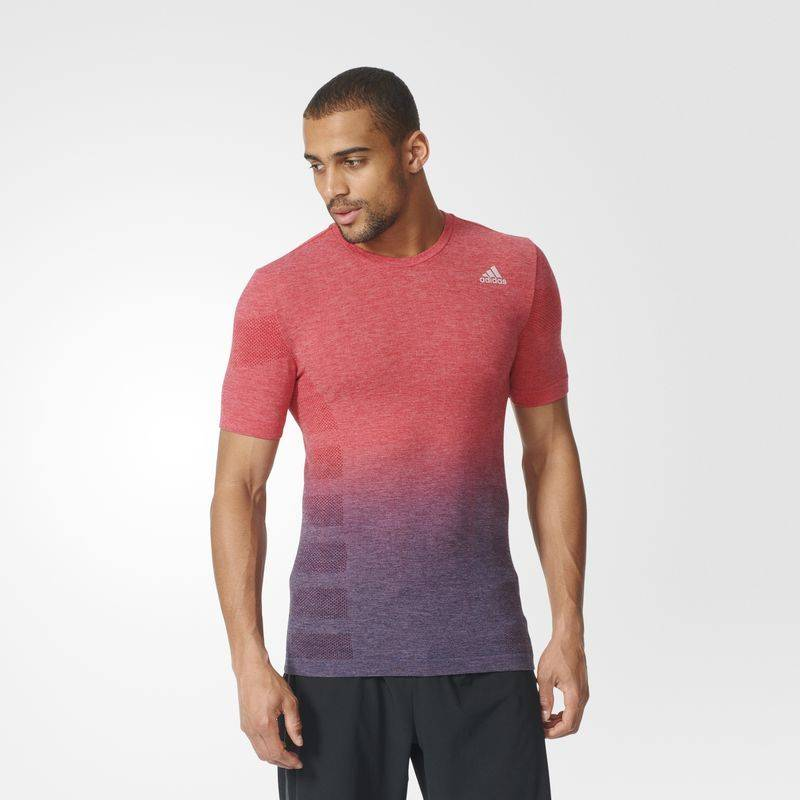 Adidas Adidas Mens Primeknit Dip-Dye Tee