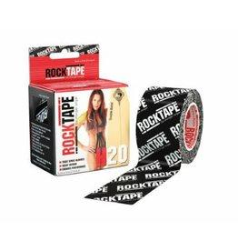 Rocktape Rocktape Kinesiology Tape 5cmx5m H2O Black Logo
