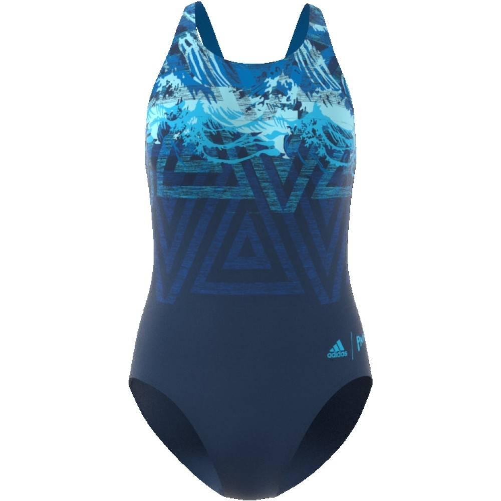 Adidas Adidas Womens Parley Swimsuit (Bright Blue)