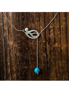 Noore Nooré Ketting Simin Turquoise