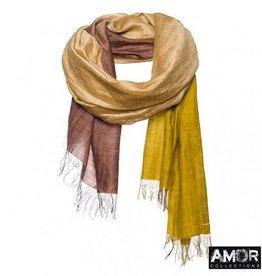 Amor AMOR Collections zijde en katoenen shawl met Tie Dye effect
