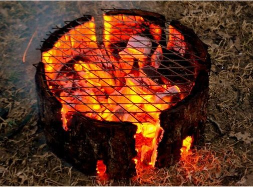 Ecogrill large kant en klaar met grillrooster