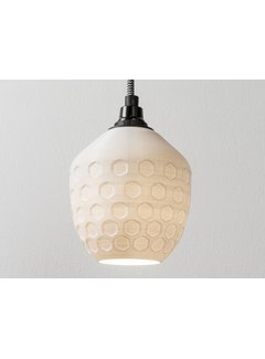 3D lights 3D lights Honeycomb hanglamp wit