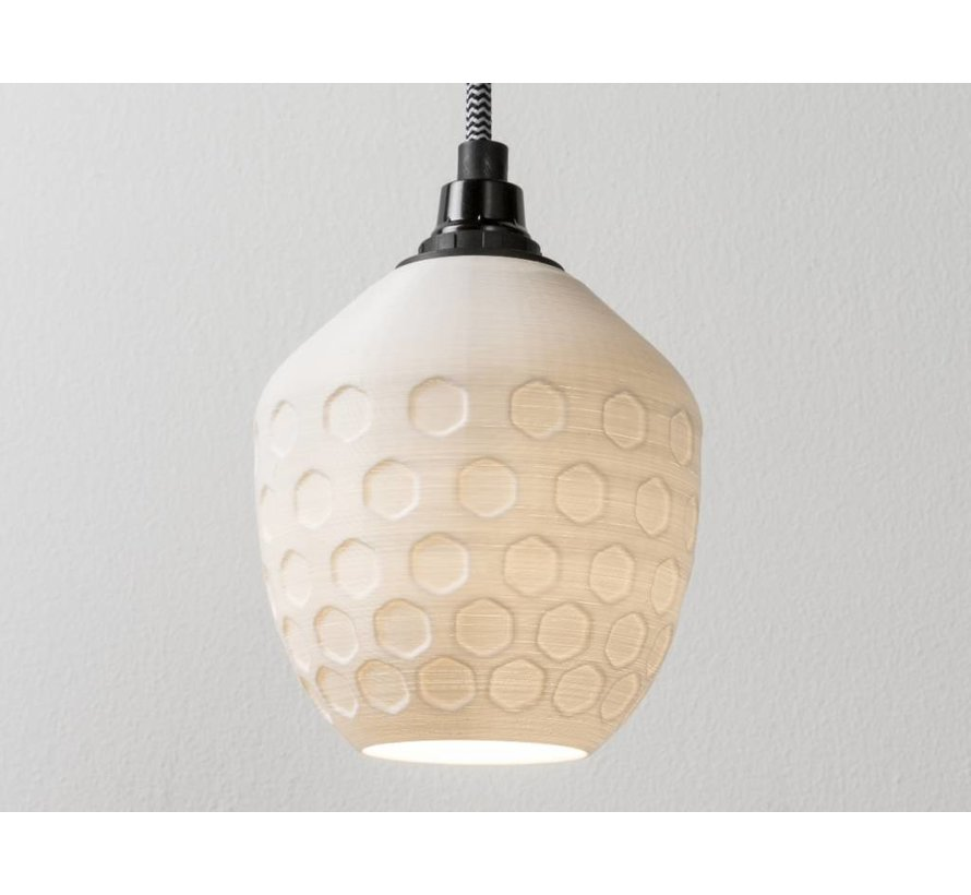 3D lights Honeycomb hanglamp wit