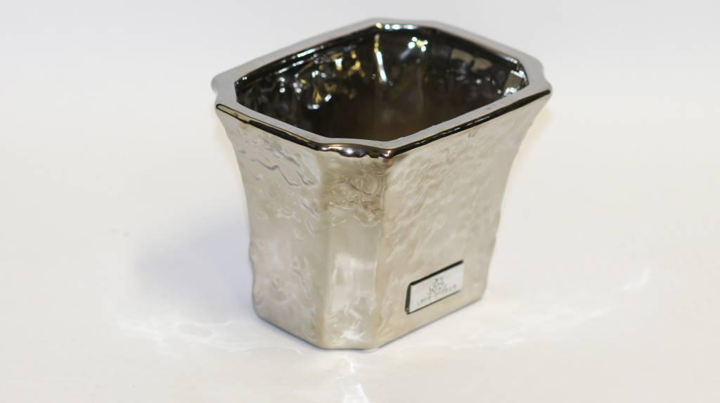 Lenebjerre  Qstall Lene Bjerre Silver Small Plant Pot