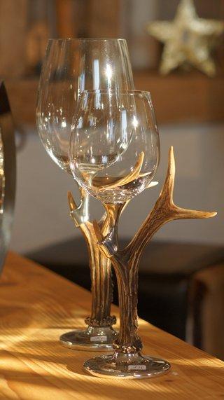 Qstall Weinglas Rehbock  für Weisswein