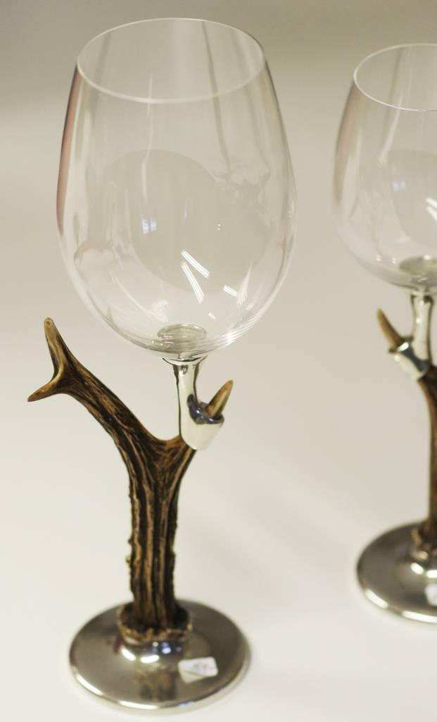 Qstall Weinglas Rehbock  für Rotwein