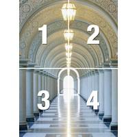 Säulengang - Fototapete 4-teilig 183 x 254 cm