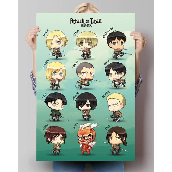 Attack on Titan Ckaraktere - Poster 61 x 91.5 cm