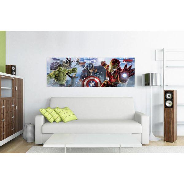 Avengers Skyline - Türposter 158 x 53 cm