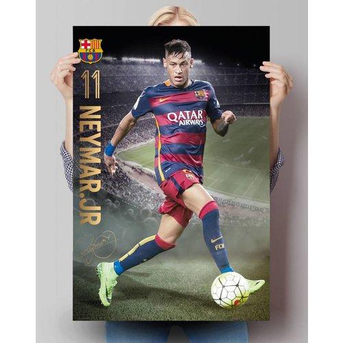 Poster FC Barcelona Neymar Aktion