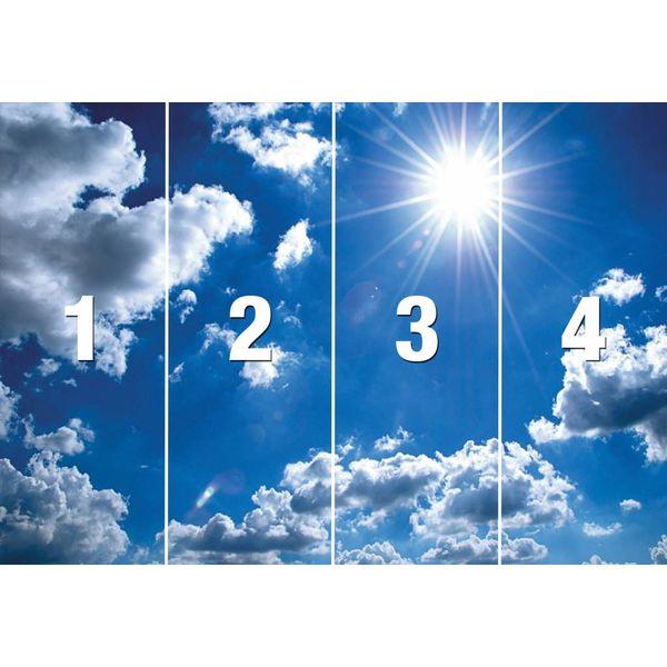 Blauer Himmel - Fototapete 368 x 254 cm