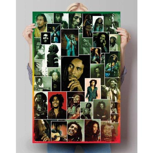 Poster Bob Marley Foto Kollage