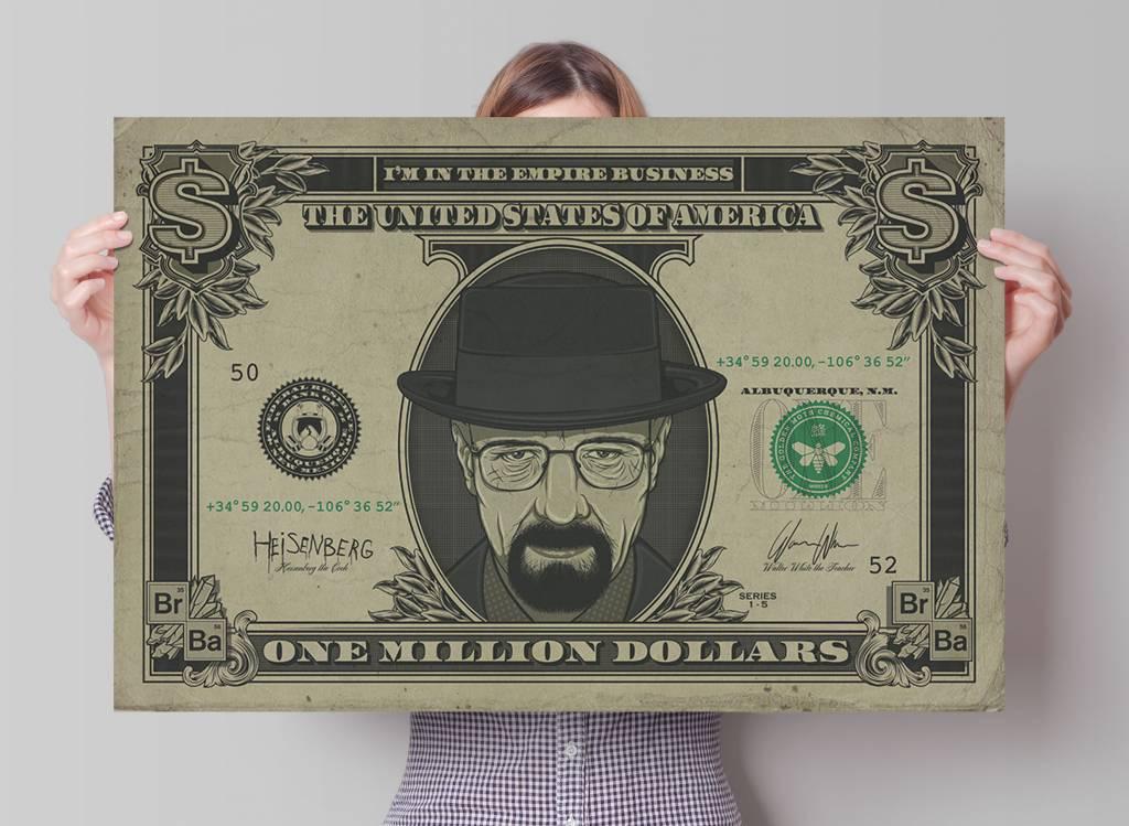 Breaking Bad Heisenberg Dollar | Poster - REINDERS!