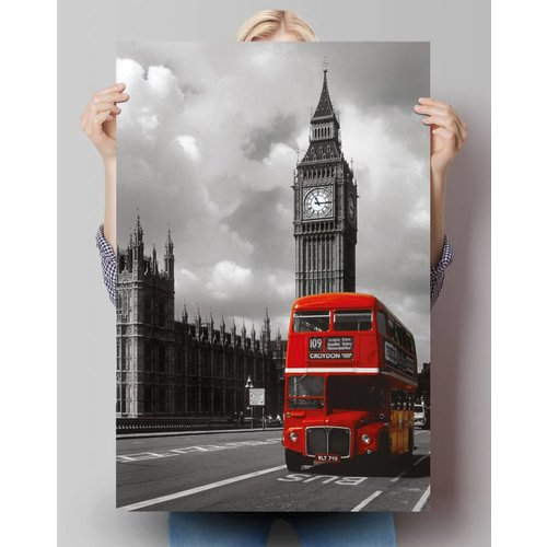 Poster London Rote Buss