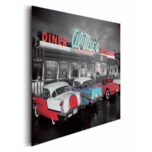Wandbild Al Mac`s Diner