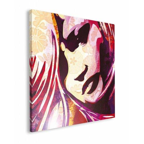 Wandbild Frauenkopf