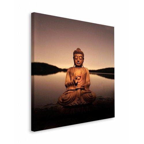 Wandbild Buddha See