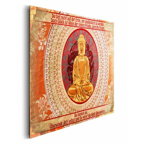 Wandbild Buddha Zitat