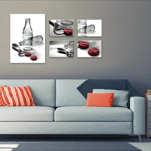 Wandbilder 5-teilig Coca-Cola