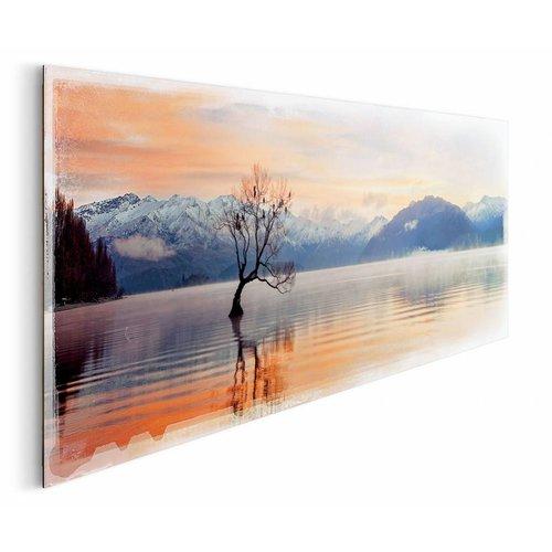 Wandbild Wanaka See Dämmerung