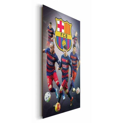 Wandbild FC Barcelona Spieler
