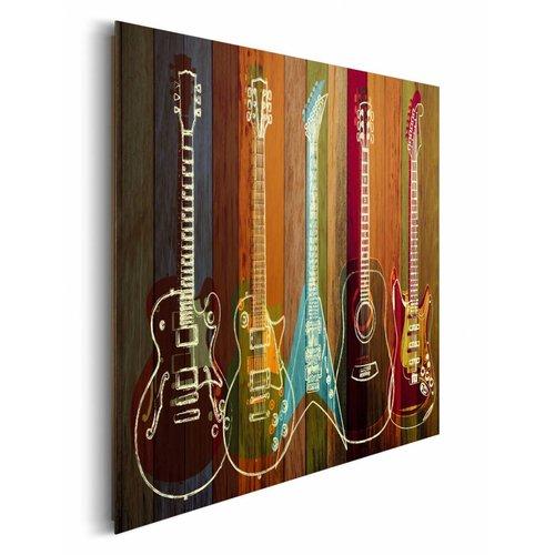 Wandbild Gitarren Kollektion
