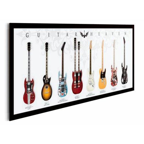 Wandbild Gitarren Himmel