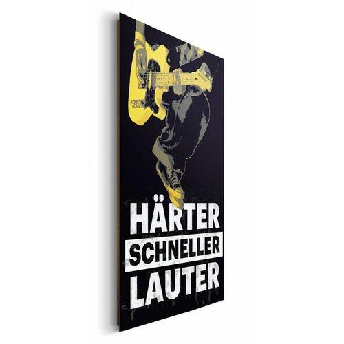 Wandbild Härter Schneller Lauter