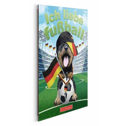 Wandbild Ich liebe Fußball Hund