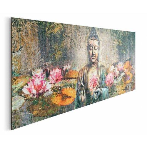 Wandbild Lotus Buddha