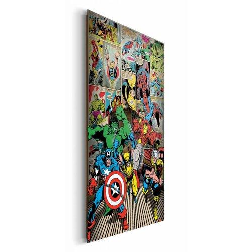 Wandbild Marvel Helden