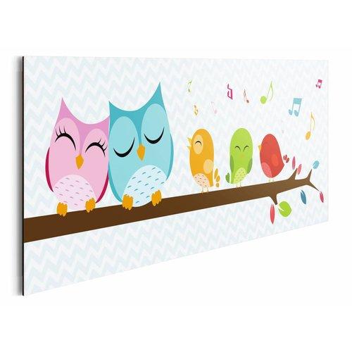 Wandbild Süße Eulen