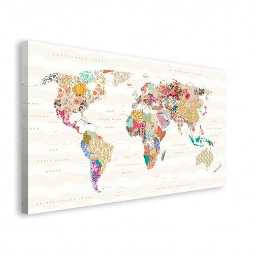 Wandbild Muster der Erde