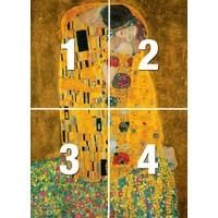 Der Kuss  - Fototapete 4-teilig 183 x 254 cm