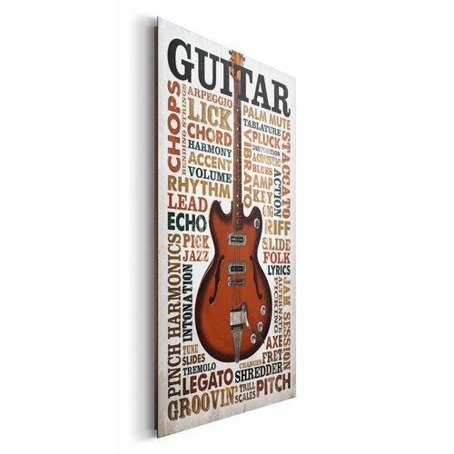 Wandbild Gitarren Begriffe