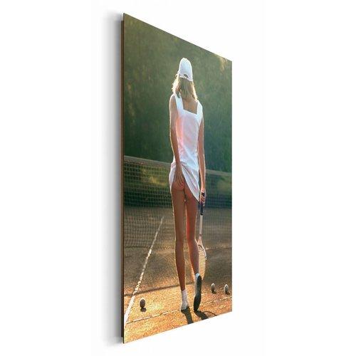 Wandbild Tennisgirl