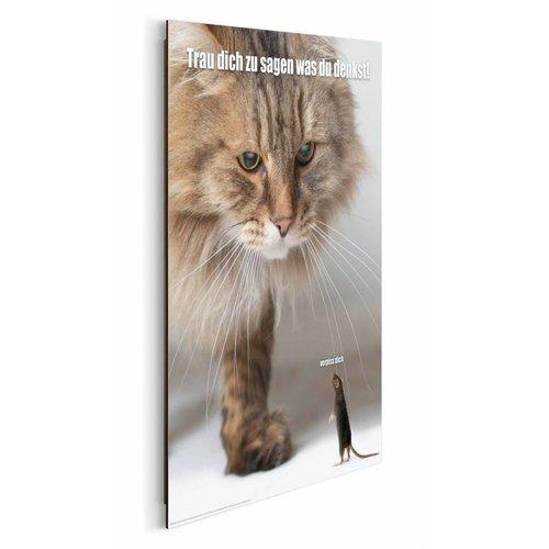 Wandbild Verpiss Dich Katze