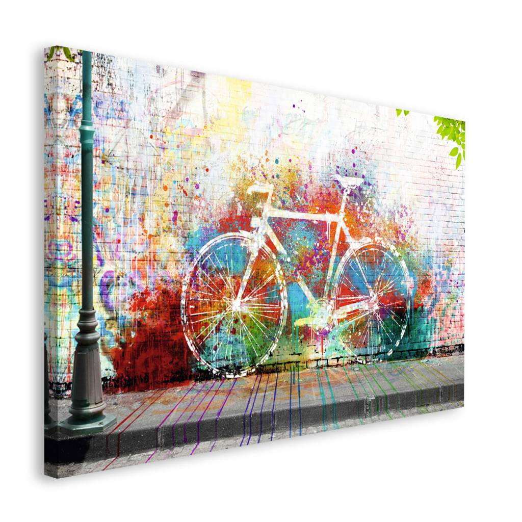 graffiti fahrrad wandbild reinders. Black Bedroom Furniture Sets. Home Design Ideas