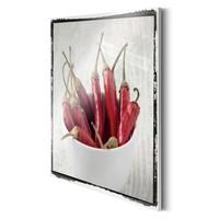 Chilli Schoten II  - Deco Glass 30 x 30 cm