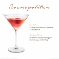 Cosmopolitan Cocktail  - Deco Glass 30 x 30 cm