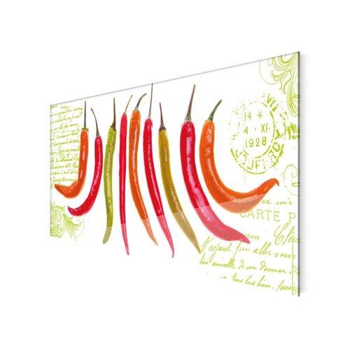 Glasbild Chilli