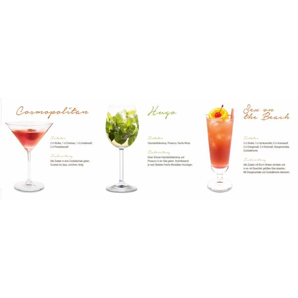 Cocktail Dreier - Deco Glass 95 x 33 cm