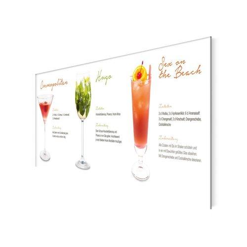 Glasbild Cocktail Dreier