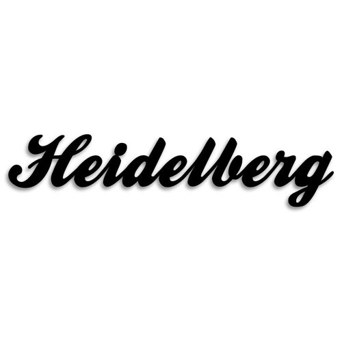 Wandobjekt Heidelberg Schreibschrift