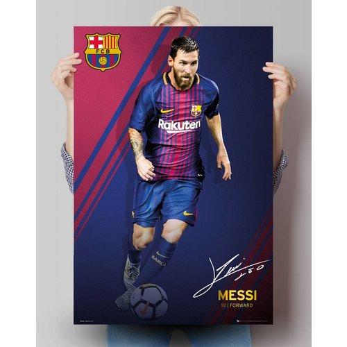 Poster Lionel Messi 17/18 FC Barcelona